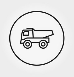 Dump truck toy universal icon editable vector