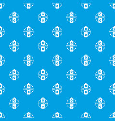 eco battery pattern seamless blue vector image