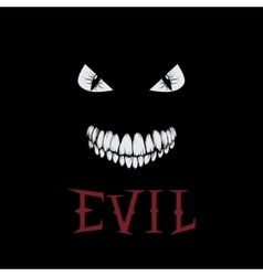 evil eyes and teeth vector image