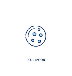 Full moon concept 2 colored icon simple line vector