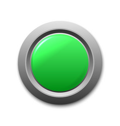 green circle button template for your design vector image