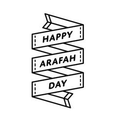 Happy arafah day greeting emblem vector