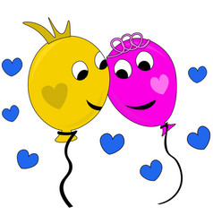 happy couple of balloons in love vector image