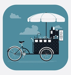 Hotdog Streetfood Cart vector