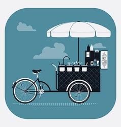 Hotdog streetfood cart vector