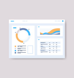 Infographic dashboard template with graph vector