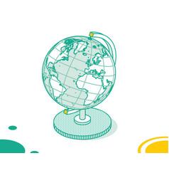 isometric earth globe model isolated on white vector image