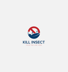 Kill insect logo with modern logo and pest vector