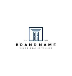 Letter bg law logo design vector