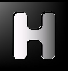 letter h sign design template element vector image