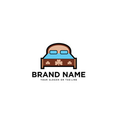 Logo design bed vector