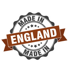 Made in england round seal vector