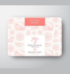 Mango bath soap cardboard box abstract vector