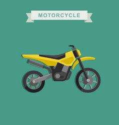 motoctoss bike vector image