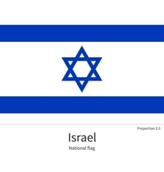 national flag israel with correct proportions vector image