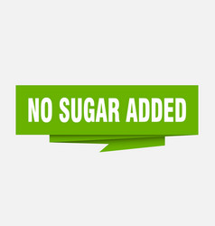No sugar added vector