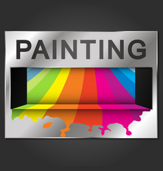 Painting business card color paint vector