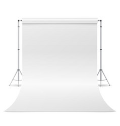photography studio clean white canvas vector image