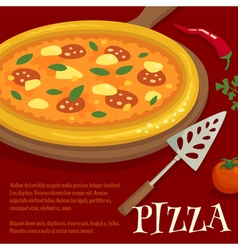 Pizza poster menu layout template cartoon vector image vector image