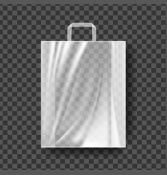 plastic shopping bag transparent shopping vector image