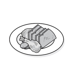 Plate of beef vector image