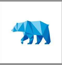 polygonal shape bear logo animals vector image