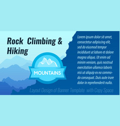 rock climbing and hiking - layout design of vector image