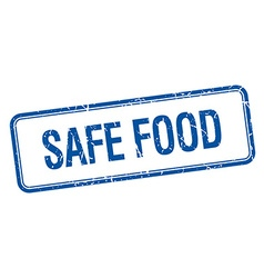 Safe food blue square grungy vintage isolated vector