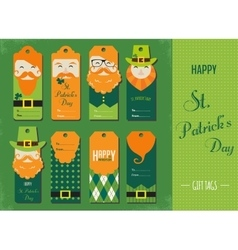 Saint Patricks day gift tags vector