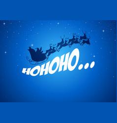 Santa claus driving his sleigh vector