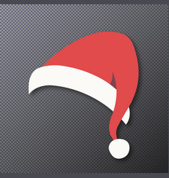 santa hat isolated on transparent vector image