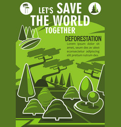 Save world banner for ecology nature protection vector