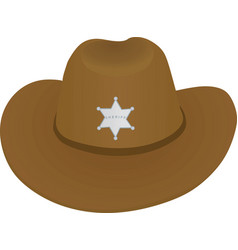 Sheriff hat vector
