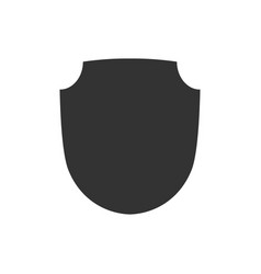 shield shape icon black label sign isolated vector image