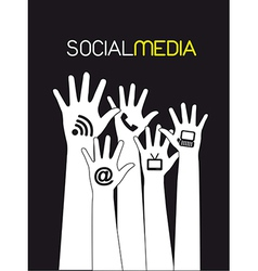 Social media design elements vector
