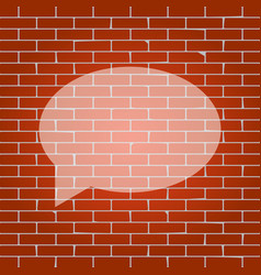 speech bubble icon whitish icon on brick vector image