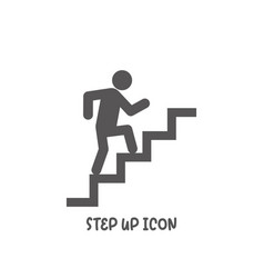 step up icon simple flat style vector image