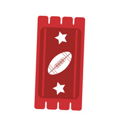 ticket game american football icon abstract vector image