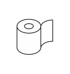 toilet paper roll icon symbol for packing vector image