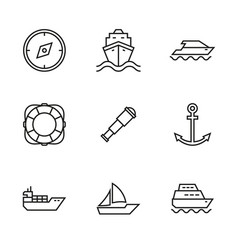 transport ships and yachts vector image