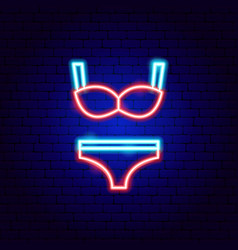 underwear neon sign vector image