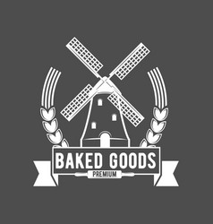 Vintage retro bakery logo badge and label vector