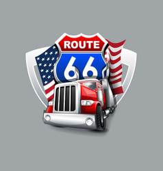 vintage route 66 logo vector image