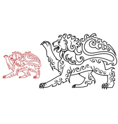 Vintage royal lion for heraldry or tattoo design vector image