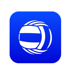 Volleyball icon blue vector