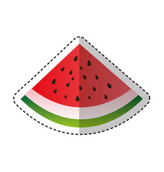 Watermelon fruit isolated icon vector