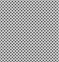 Abstract black and white heart pattern background vector