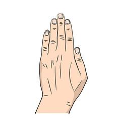 cartoon hand icon vector image