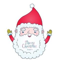 Cute cartoon Santa Claus vector image