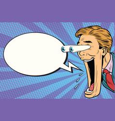 hyper expressive reaction cartoon man face comic vector image vector image